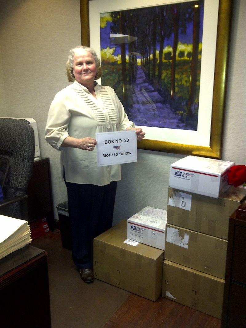 Karen Davis with Packages