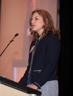Lori Speaking at CREW event
