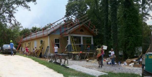 Exterior shot of worksite